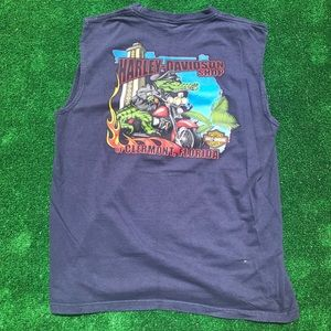 Harley Davidson Clermont blue muscle shirt XL
